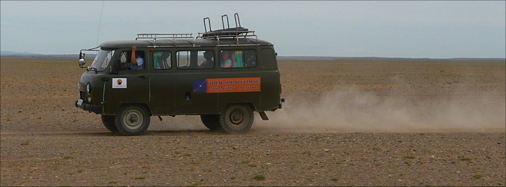 Crossing the desert with 4x4 minibus
