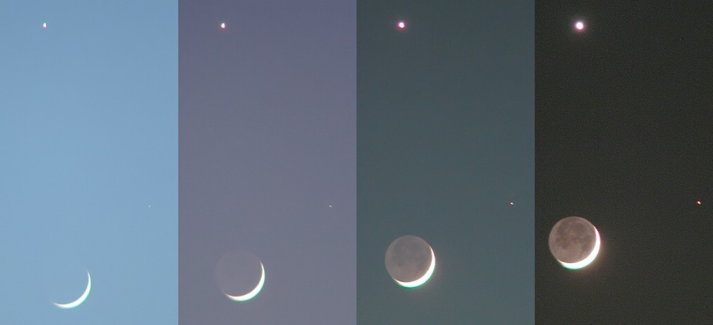 Lunar conjunction with Venus and Mars on may 14th 2002
